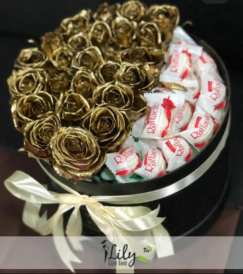 kutuda gold güller ve kinderler