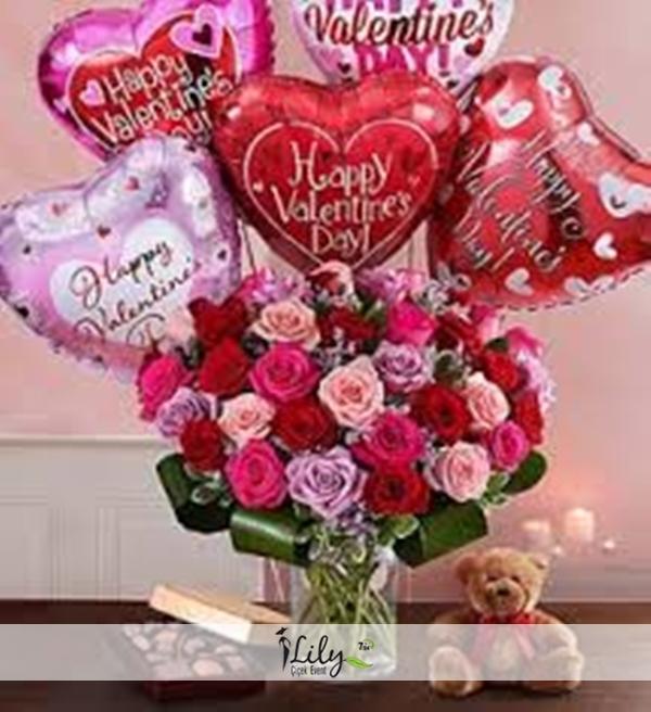 özel balonlar ve güller