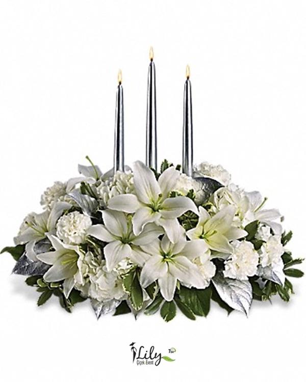 beyaz lilyum yılbaşı çiçegi