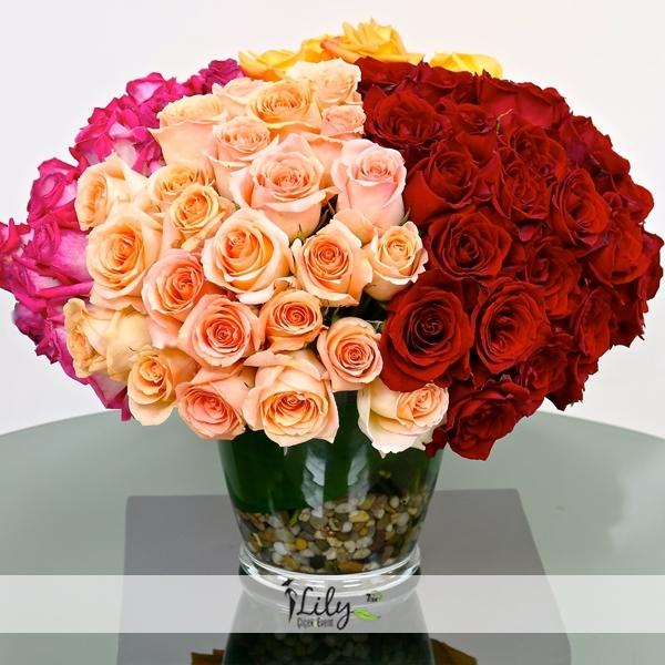 vazoda özel ithal güller