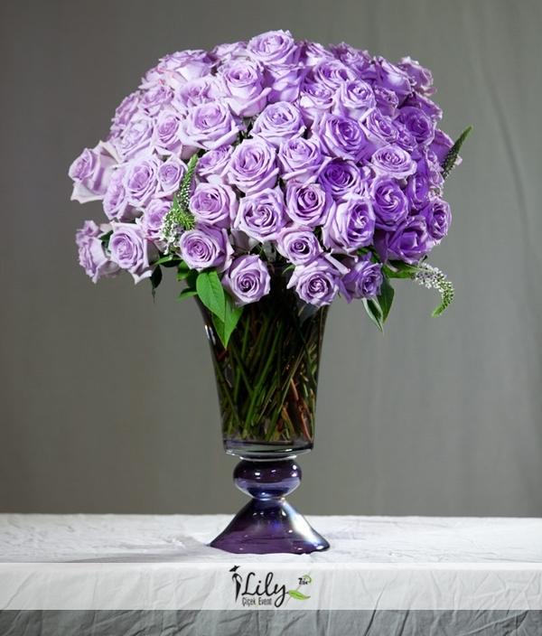 çok özel mor güller