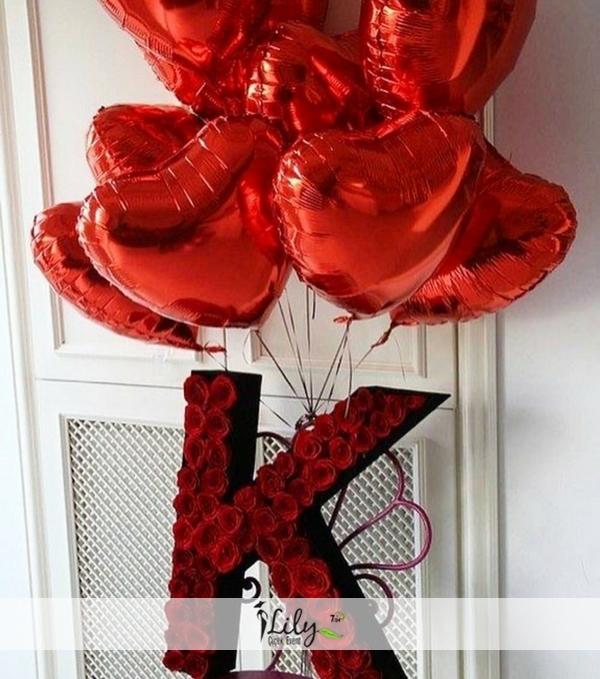 özel harf kutusu ve balonlar